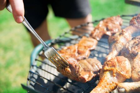 Cooking on the barbecue grill Stock Photo - 5358450