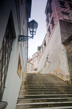 Prague. Old, charming streets and buildings photo
