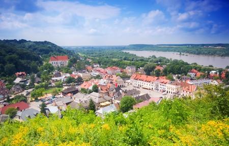 kazimierz dolny: Lovely village in the valley. Kazimierz Dolny, Poland Stock Photo
