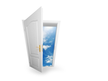 era: Door to new world. Open door to new life conceptual. Other original versions of this concept available in my portfolio. Stock Photo