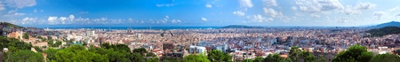 barcelona cathedral: Barcelona, Spain at summer. Very wide, high quality panorama