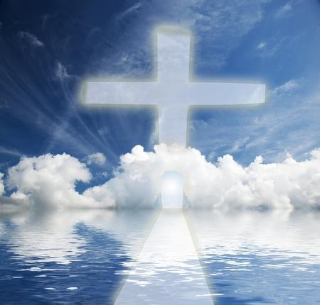 himlen: Vägen till himlen. Konceptuell, religion, nytt liv