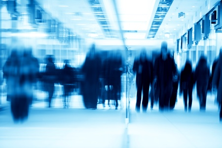 commercial activity: Busy business center. People in rush. Abstract conceptual motion blur Stock Photo