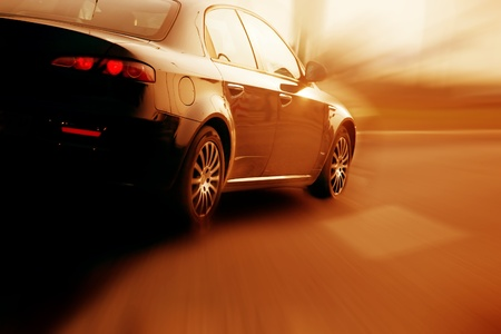 dream car: Fast car el deporte resumen de desenfoque de movimiento de transporte de velocidad, deporte conceptos espirituales