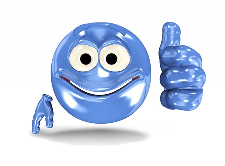 approve icon: Happy smiley face, emoticon showing ok sign. On white Stock Photo