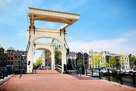 The Magere Brug, Skinny Bridge. Amsterdam, Holland, Netherlands photo