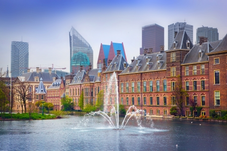 office politics: Binnenhof Palace - Dutch Parlament in the Hague (Den Haag). Netherlands (Holland) Stock Photo