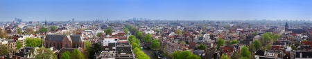 Amsterdam panorama, Holland, Netherlands. City view from Westerkerk photo