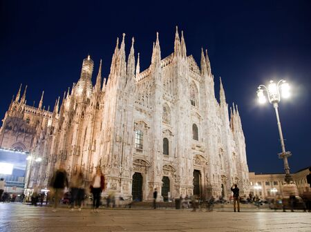Milan Cathedral at Piazza del Duomo at night. Lombardy, Italy. photo