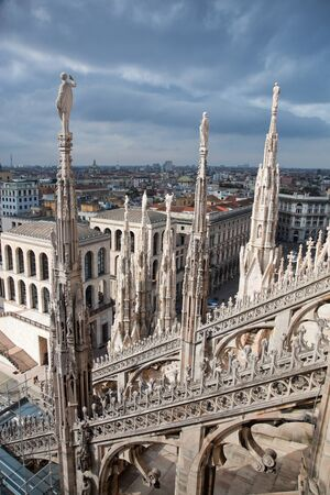 City view of Milan, Italy from Milan Cathedral photo