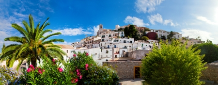 Panorama of Ibiza old city - Eivissa. Spain, Balearic islands Stock Photo - 16063202