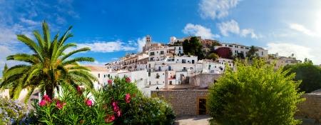 Panorama of Ibiza old city - Eivissa. Spain, Balearic islands Stock Photo - 16063202