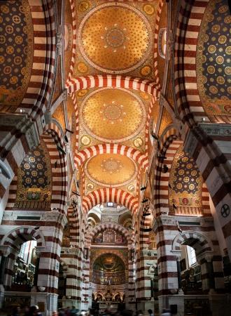 Interior of Notre Dame de la Garde in Marseille, France.