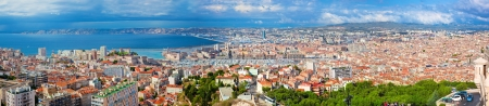 Marseille, France panorama. The famous european harbour. photo