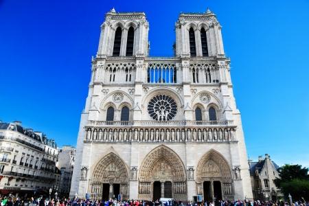 parisian scene: Notre Dame Cathedral, Paris, France. Paris tourist attraction