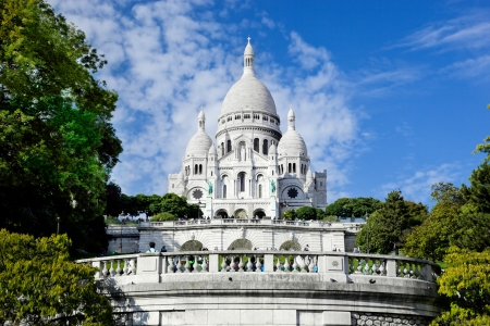 sacred heart: Sacre-Coeur Basilica on Montmartre, Paris, France Stock Photo