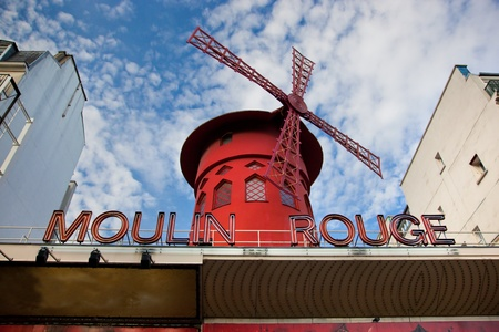 Moulin Rouge cabaret - Red Mill on Montmartre, Paris, France