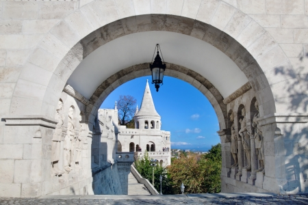 fisherman bastion: Fisherman Bastion  Budapest, Hungary Stock Photo