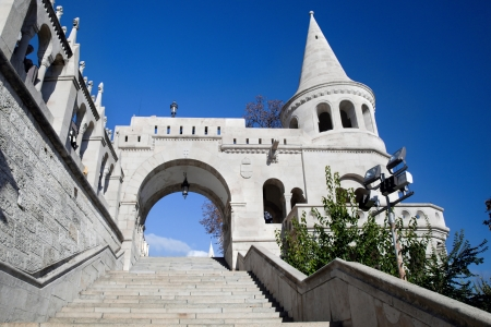buda: Fishermans Bastion on the Buda Castle hill in Budapest, Hungary