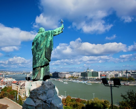 Budapest, Hungary, Danube river. View from Gellert Hill photo