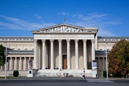 fine arts: Museum of Fine Arts or Szepmuveszeti Muzeum at Heroes Editorial