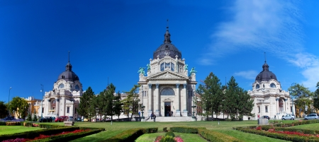 Szechenyi thermal and medicinal bath in Budapest, Hungary photo