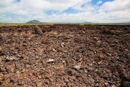 tsavo: Basalt rocks surface from Tsavo West, Kenya, Africa.