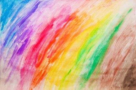 manually: Vibrant colorful painting pattern, drawn manually