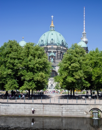 Berlin Cathedral. German Berliner Dom. A famous landmark on the Museum Island in Mitte, Berlin, Germany. photo
