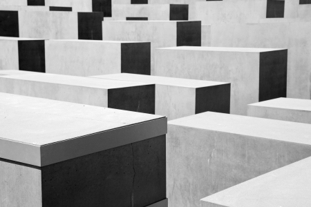 murdered: Memorial to the Murdered Jews of Europe. The Holocaust Memorial in Berlin, Germany