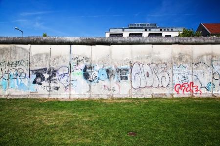 berlin: Berlin Wall Memorial with graffiti. The Gedenkstatte Berliner Mauer  Editorial