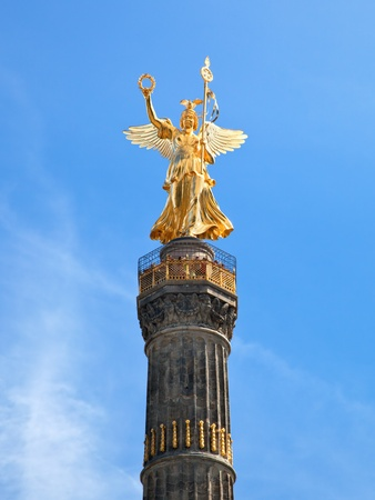 The Victory Column close up in Berlin, Germany. Berlin Siegessaule also called Goldelse photo