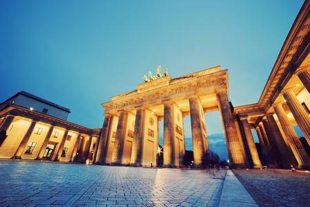 brandenburg: Brandenburg Gate  German Brandenburger Tor in Berlin, Germany  Illumination at night