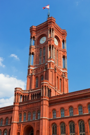 rote: The Red City Hall, German Rotes Rathaus, the town hall of Berlin, Germany Stock Photo