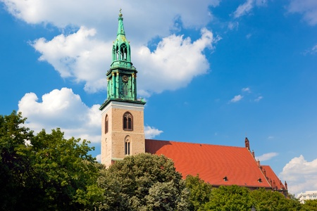 mary's: St. Marys Church in central Berlin. German Marienkirche