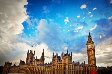 London, the UK Big Ben, the Palace of Westminster The icon of England Editorial