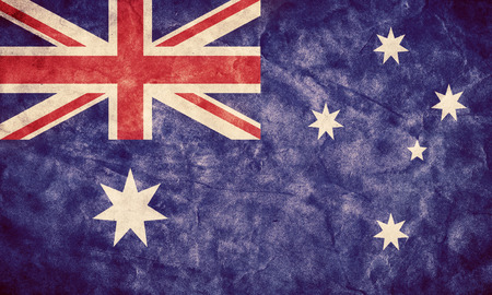 Australia grunge flag. Vintage, retro style. High resolution, hd quality. Item from my grunge flags collection.