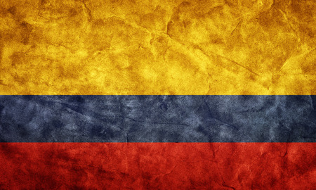 colombia flag: Colombia grunge flag. Vintage, retro style. High resolution, hd quality. Item from my grunge flags collection.