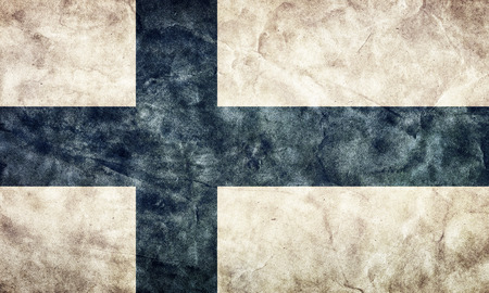 finnish: Finland grunge flag. Vintage, retro style. High resolution, hd quality. Item from my grunge flags collection.