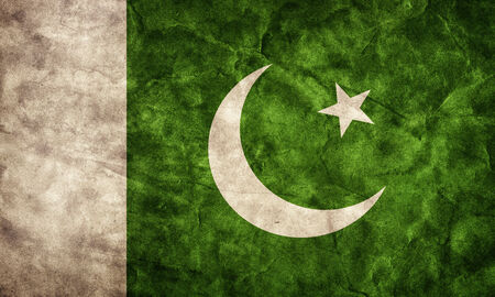 urdu: Pakistan grunge flag. Vintage, retro style. High resolution, hd quality. Item from my grunge flags collection.
