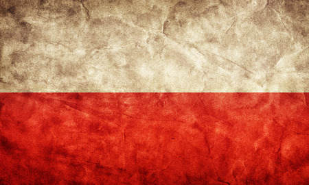 polska: Poland grunge flag. Vintage, retro style. High resolution, hd quality. Item from my grunge flags collection.