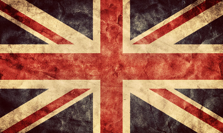 A bandeira do grunge Reino Unido ou a Union Jack. Vintage, estilo retro. Alta resolução, qualidade HD. Número de minha coleção bandeiras do grunge. Imagens