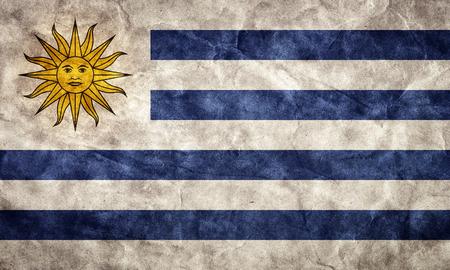 bandera de uruguay: Grunge bandera Uruguay. Vintage, estilo retro. Alta resolución, calidad hd. Artículo de mi colección de banderas del grunge.