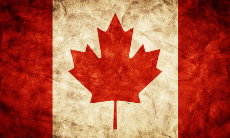 Canada grunge flag. Vintage, retro style. High resolution, hd quality. Item from my grunge flags collection. Archivio Fotografico