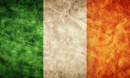 Ierland grunge vlag. Vintage, retro stijl. Hoge resolutie, HD-kwaliteit. Item uit mijn grunge vlaggen collectie.