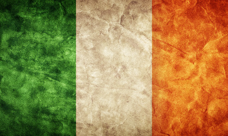 irish symbols: Ireland grunge flag. Vintage, retro style. High resolution, hd quality. Item from my grunge flags collection.