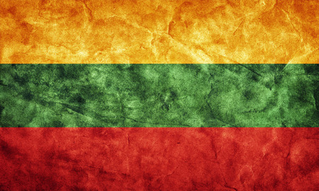 lithuanian: Lithuania grunge flag. Vintage, retro style. High resolution, hd quality. Item from my grunge flags collection.