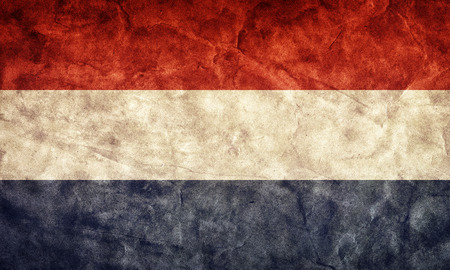 Netherlands grunge flag. Vintage, retro style. High resolution, hd quality. Item from my grunge flags collection. photo