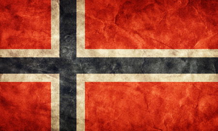 Norway grunge flag. Vintage, retro style. High resolution, hd quality. Item from my grunge flags collection. photo