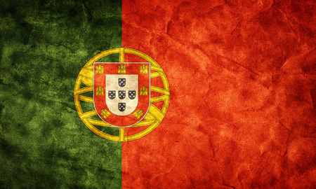 Portugal grunge flag. Vintage, retro style. High resolution, hd quality. Item from my grunge flags collection. photo